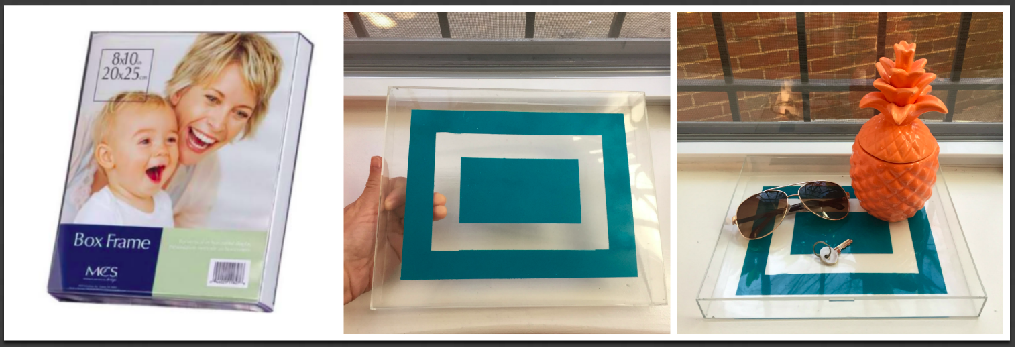 Ariel converts an acrylic frame into a tray