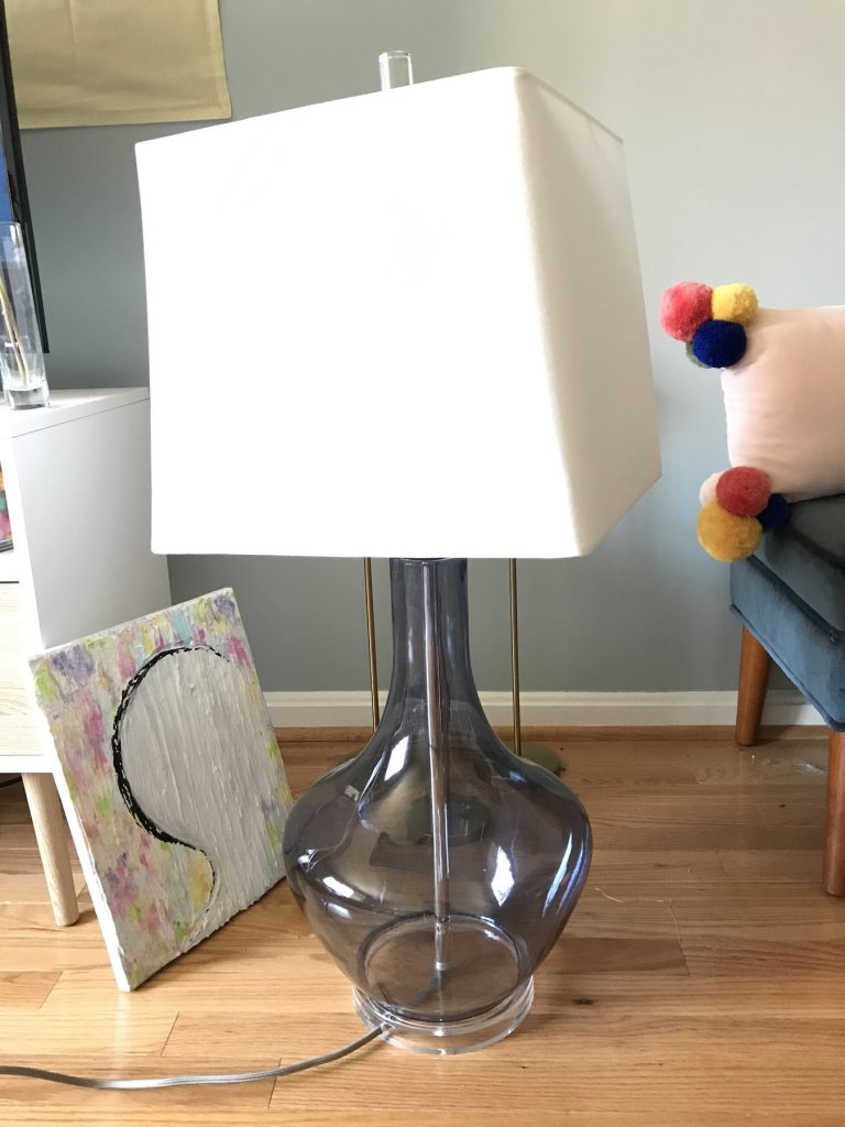 transparent lamp from Goodwill