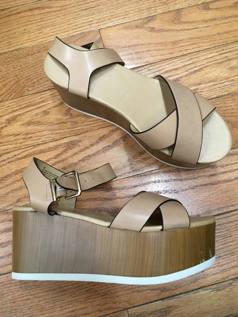 platform sandals found at Goodwill in Somerville, MA