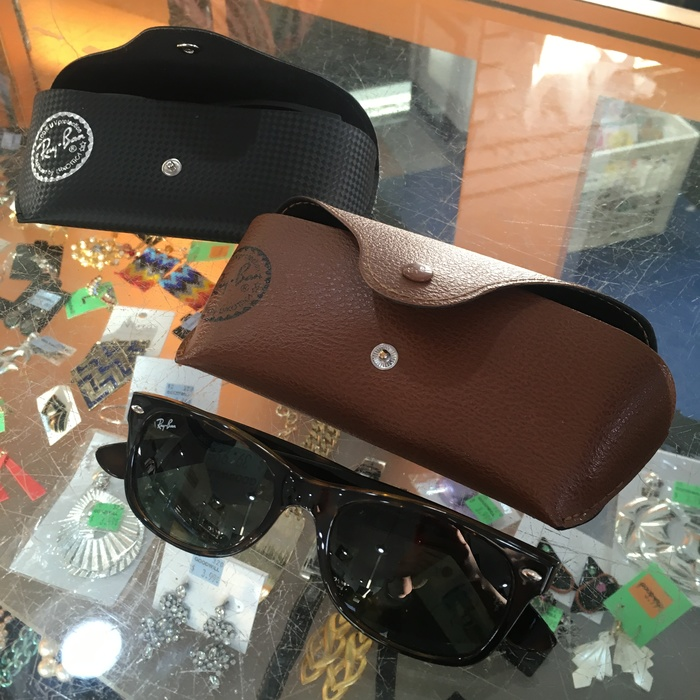 Rayban sunglasses with leather carrying cases