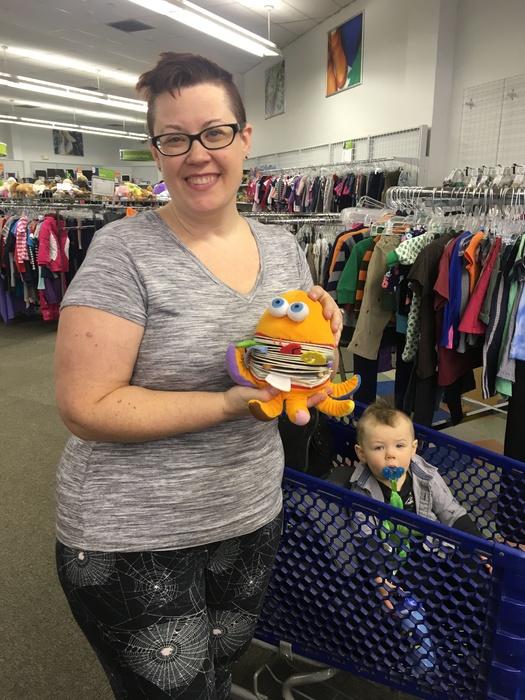 Meetup regulars Sam & Kat with plush toy baby book