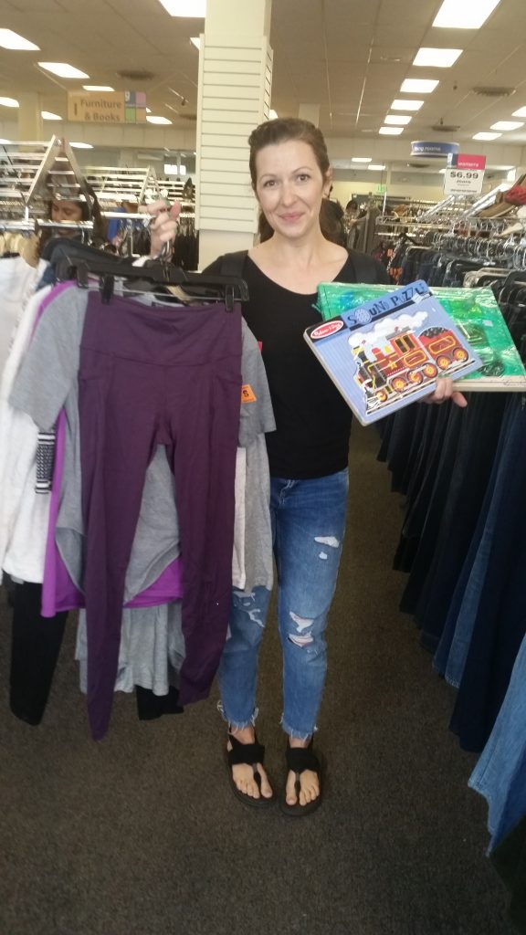 guest blogger Ariel shows off her finds from the Columbia Pike Meetup