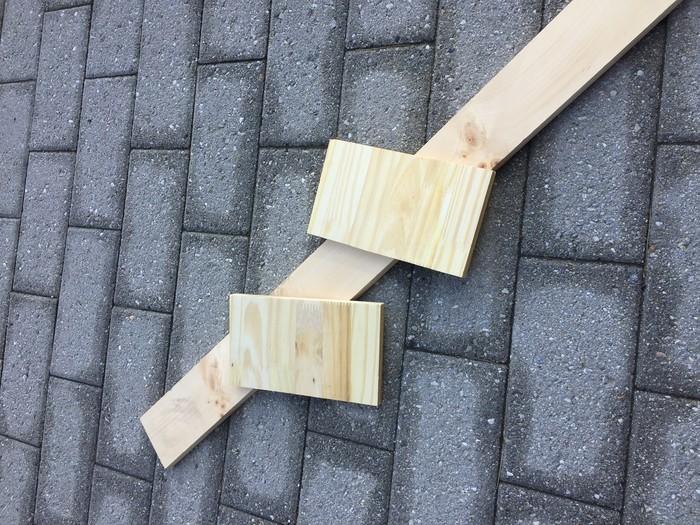 Tim Kime uses wood scraps as chair backs