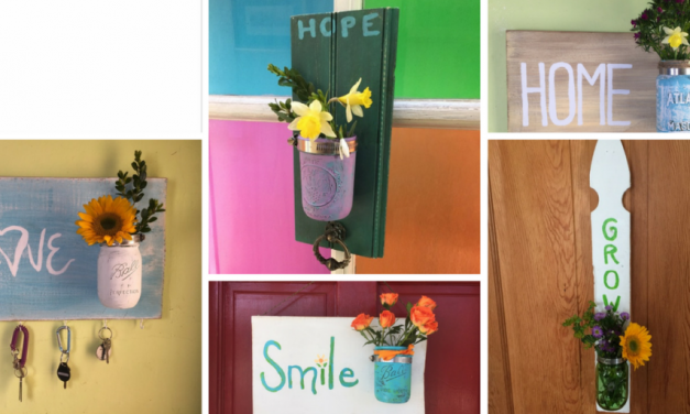 """Say """"Hello!"""" to Spring with Transformed Mason Jars"""