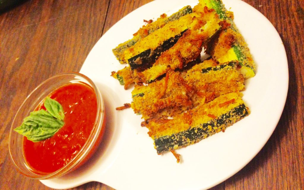 Baked Parmesan Zucchini Sticks Served with a Side of Goodwill!