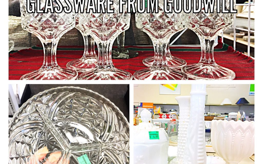 Celebrate New Years with<br />Glassware from Goodwill