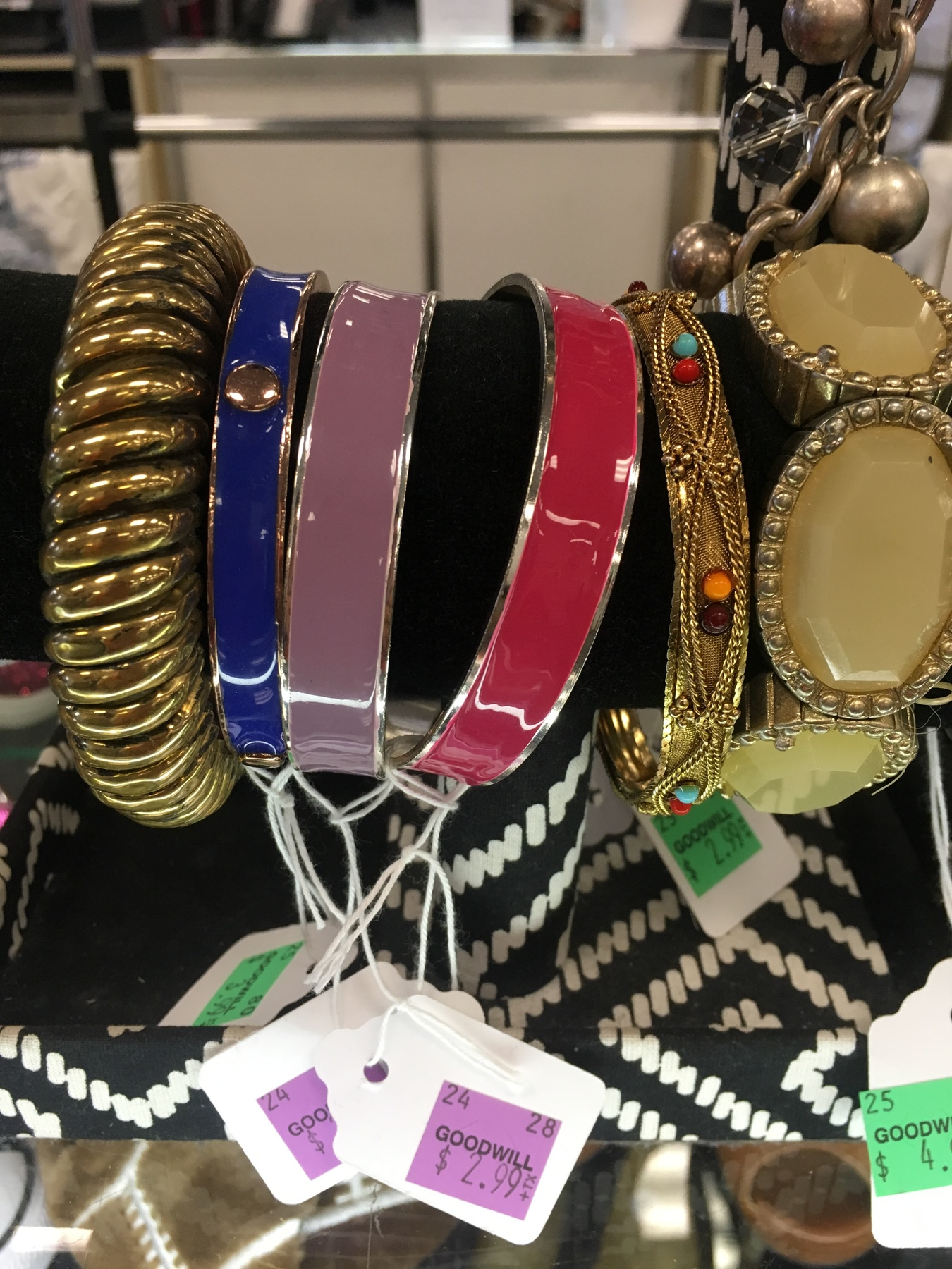 bangles and bracelets found at Kings Highway Goodwill