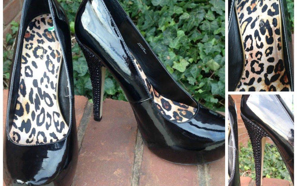Spunky patent ShoeDazzle pumps