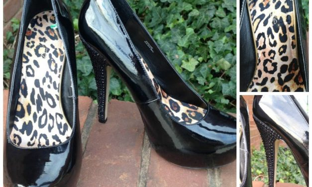 Spunky patent ShoeDazzle pumps
