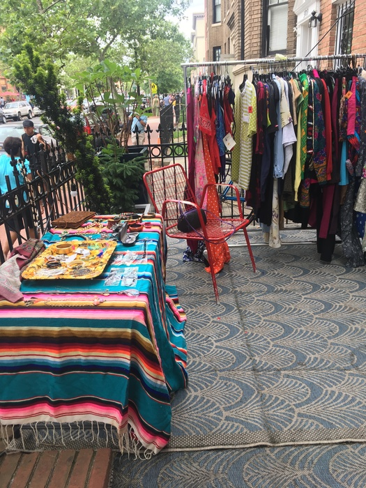 Goodwill sales area at the Sun Cinema vintage pop up on June 2, 2018.