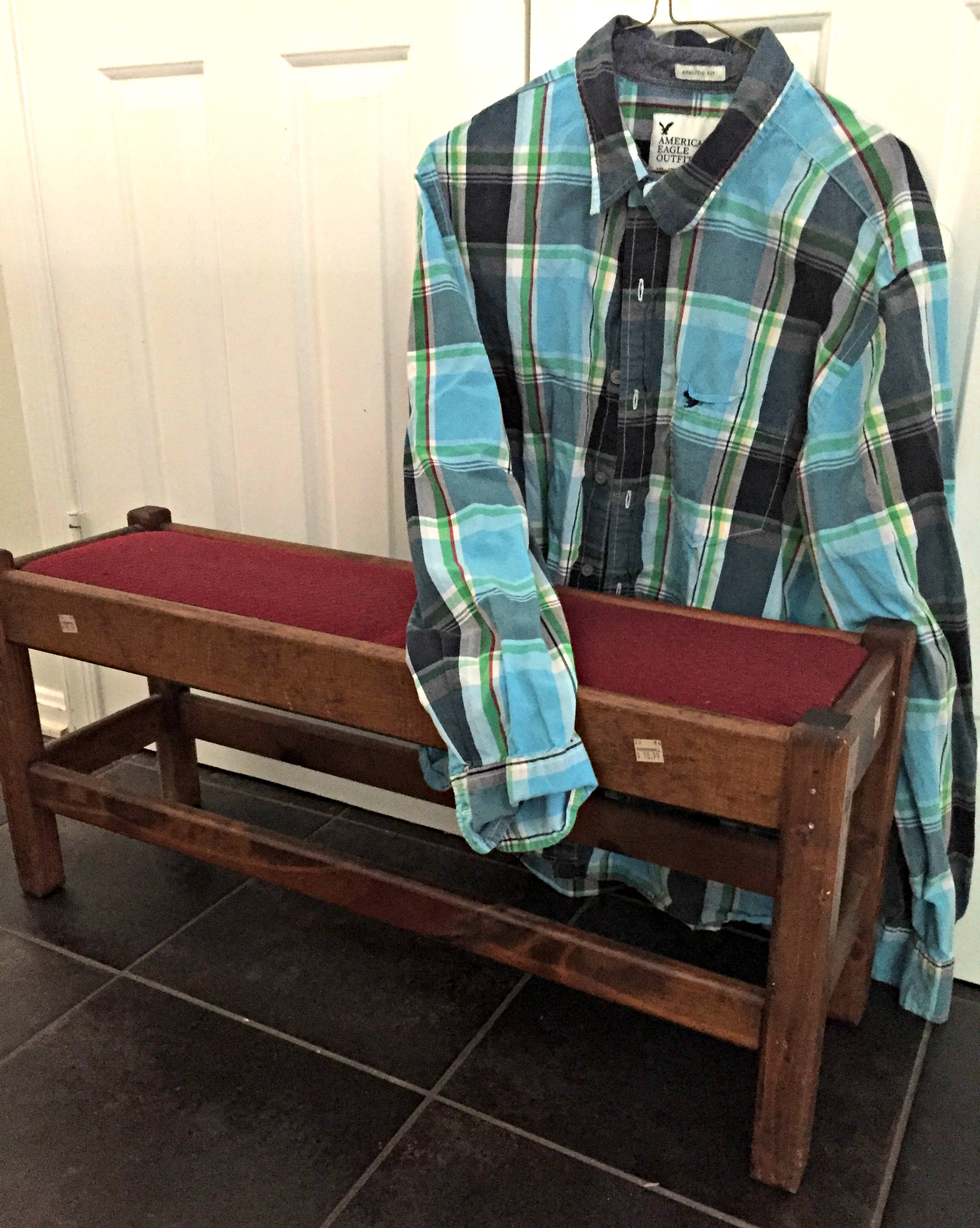 Bench and Shirt BEFORE SHOT