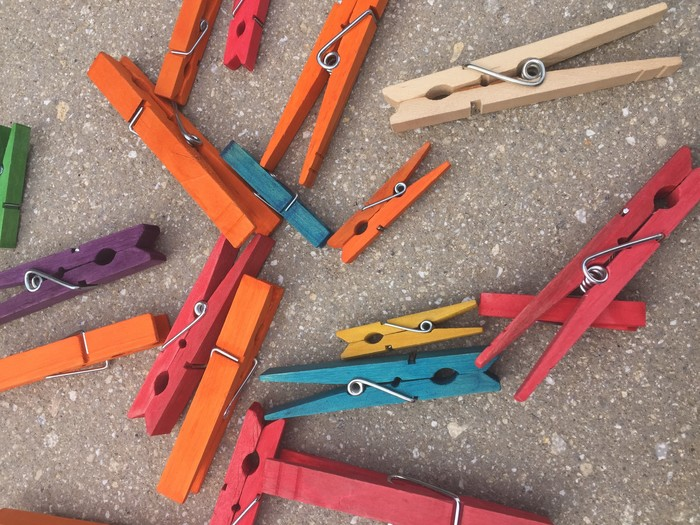 Tim's colorful clothespins
