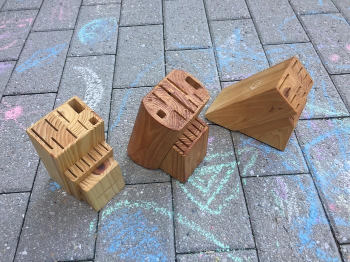knife blocks found at Goodwill