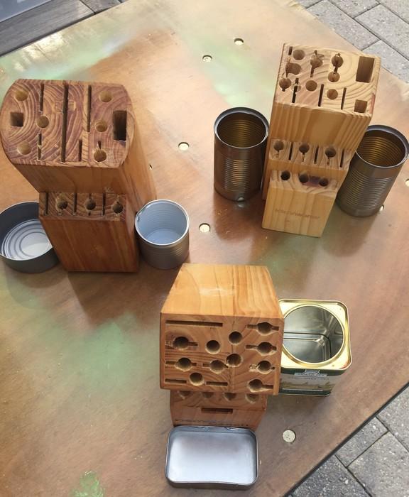 Tim's drilled butcher blocks