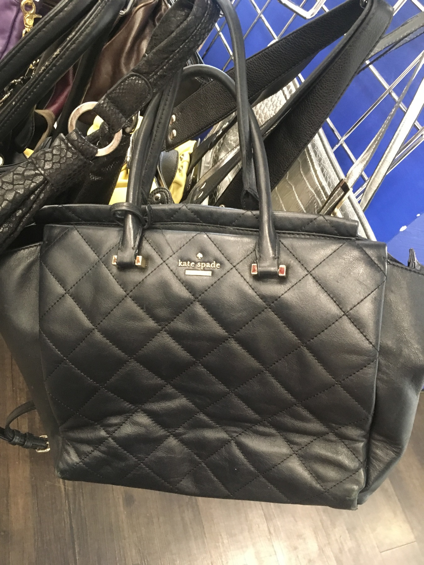 black Kate Spade bag found at Goodwill NYC