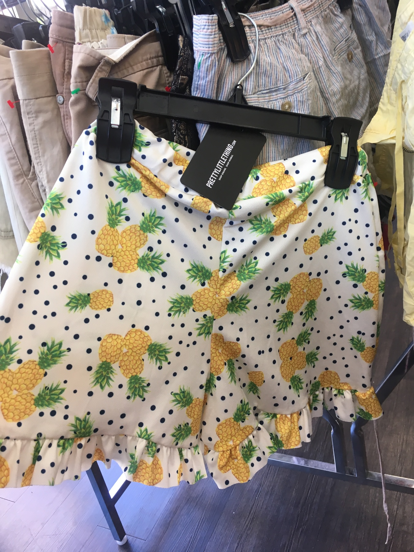 Pineapple shorts found at the NYC Goodwill