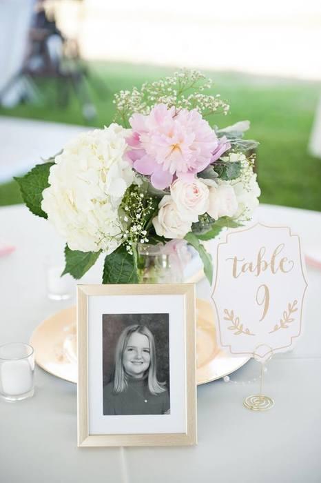 Karen's wedding decor from Goodwill