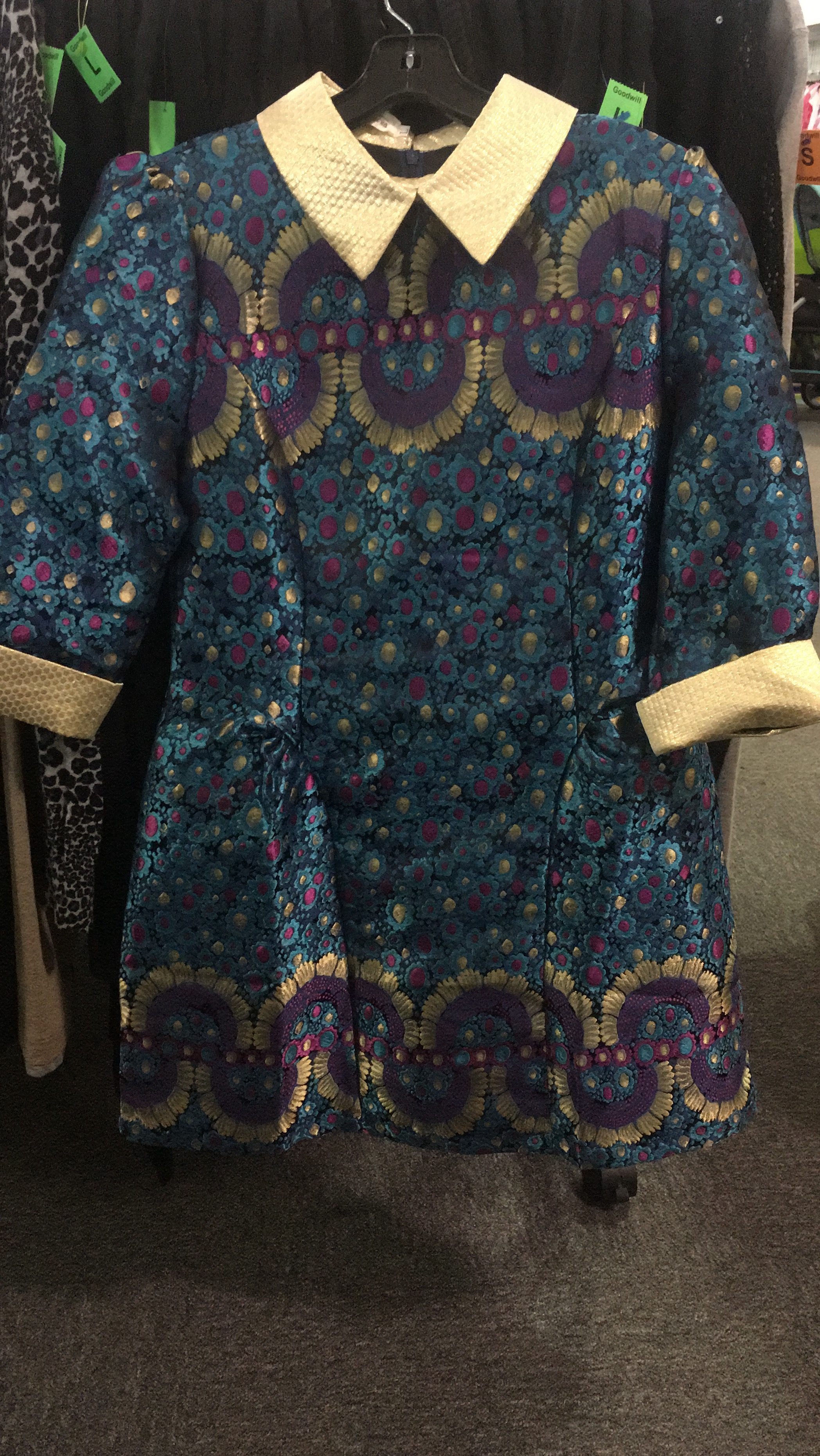 vintage look dress found at the Bowie, MD Goodwill