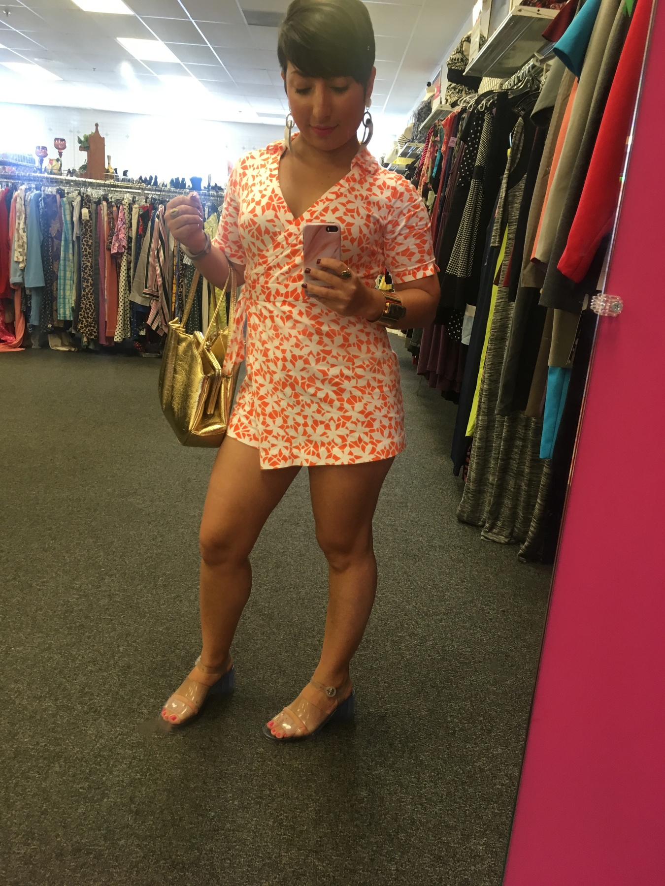 Carolyn's outfit found at Goodwill