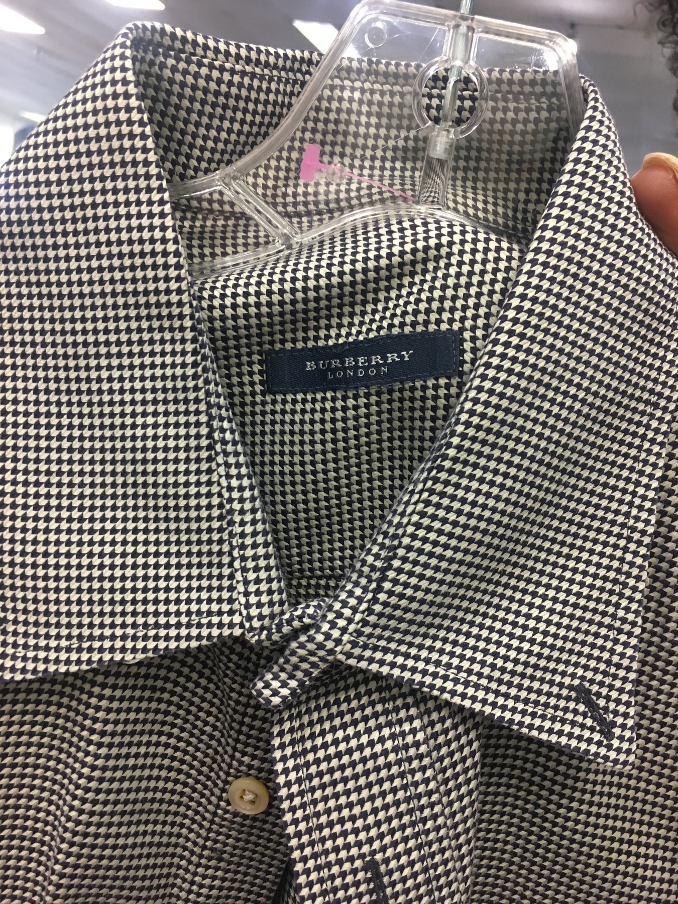 Burberry blouse found at Richmond Highway Goodwill
