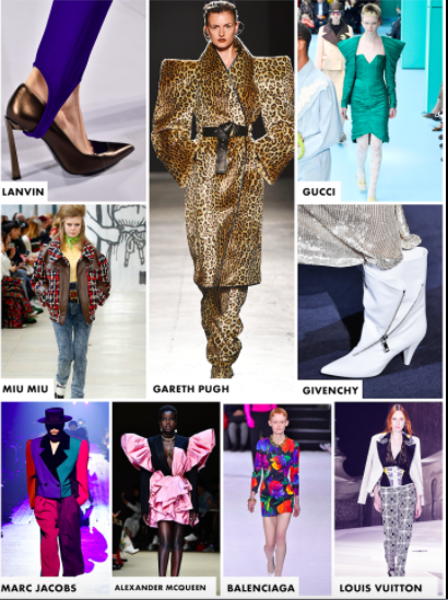 various fall couture trends on the runway