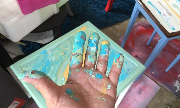 Create Beautiful Waves by Pouring on Paint