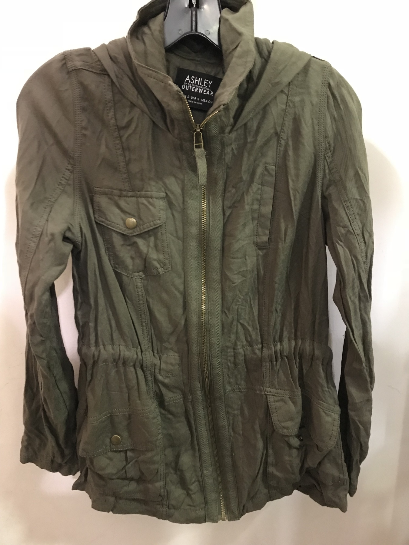 Green utility jacket by Ashley Outwear found at Columbia Pike Goodwill