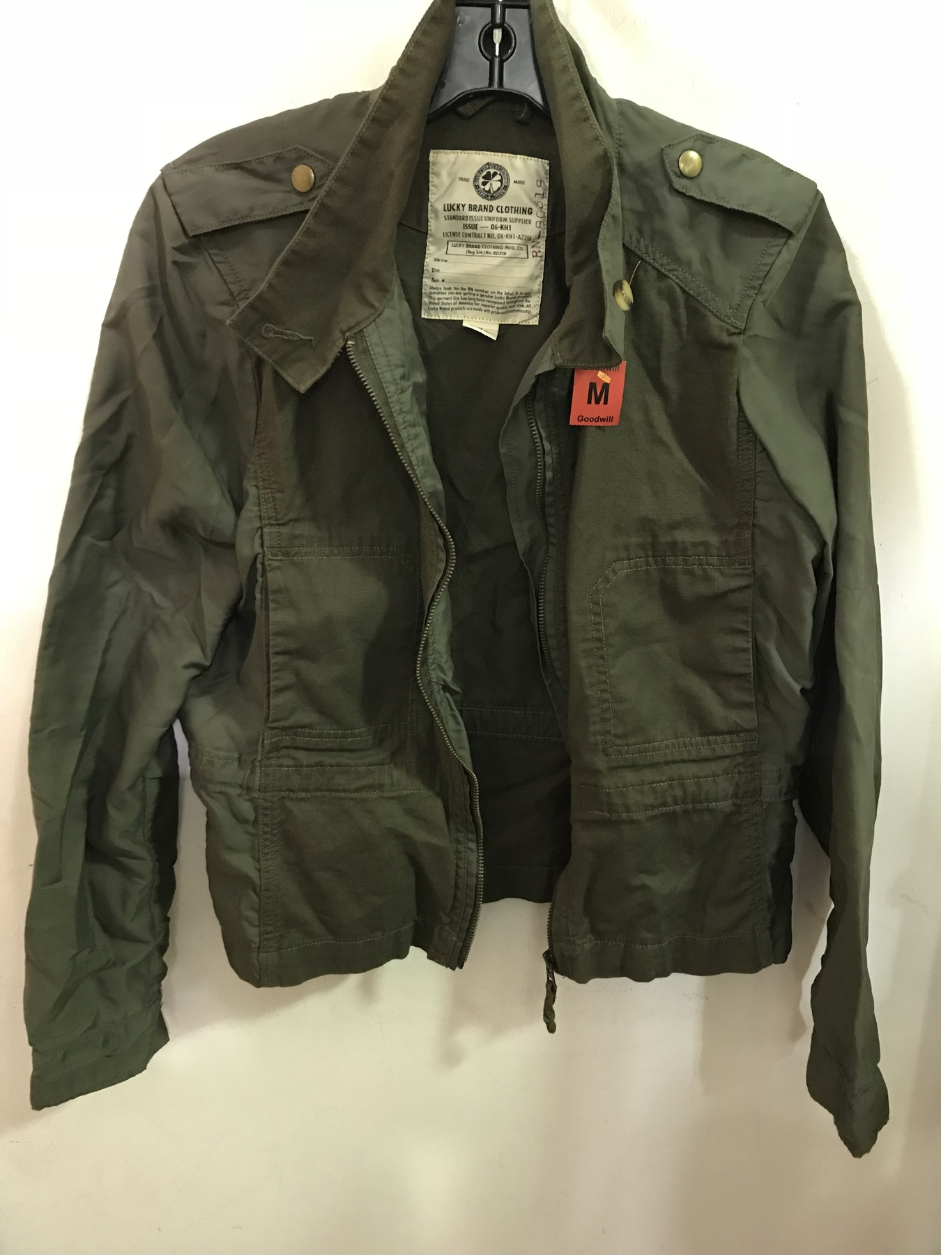green Lucky Brand utility jacket found at Columbia Pike Goodwill