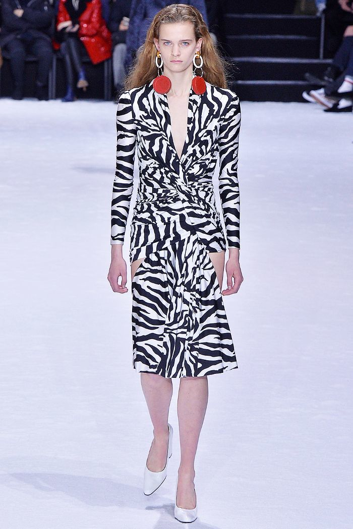 zebra print runway dress