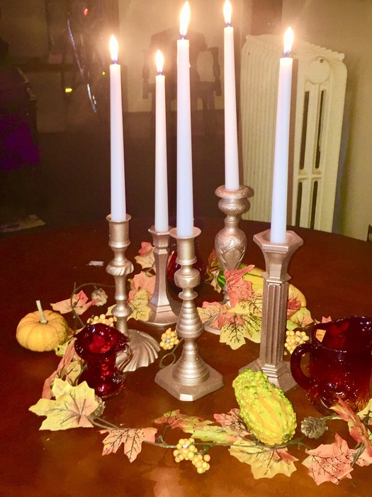 Tim's completed fall tablescape