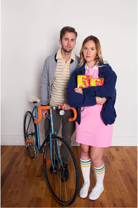 couple dressed as Mike and Eleven from Stranger Things