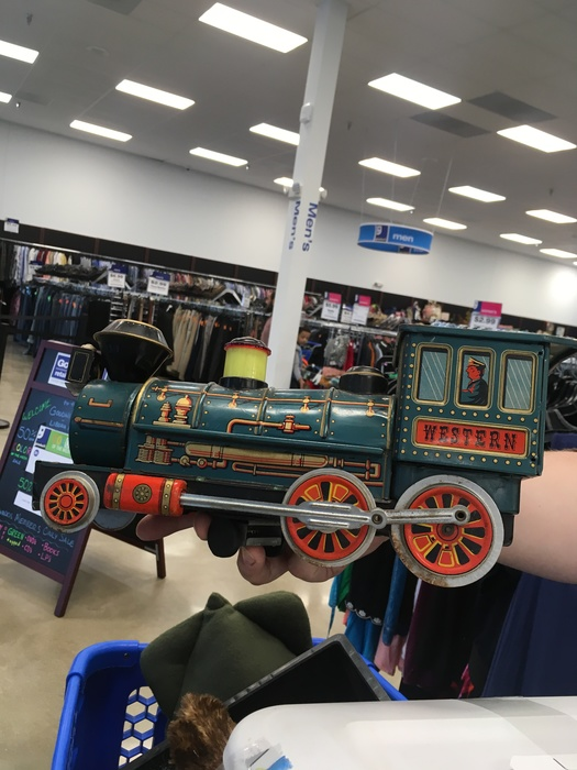 model train toy found at Liberia Avenue, Goodwill