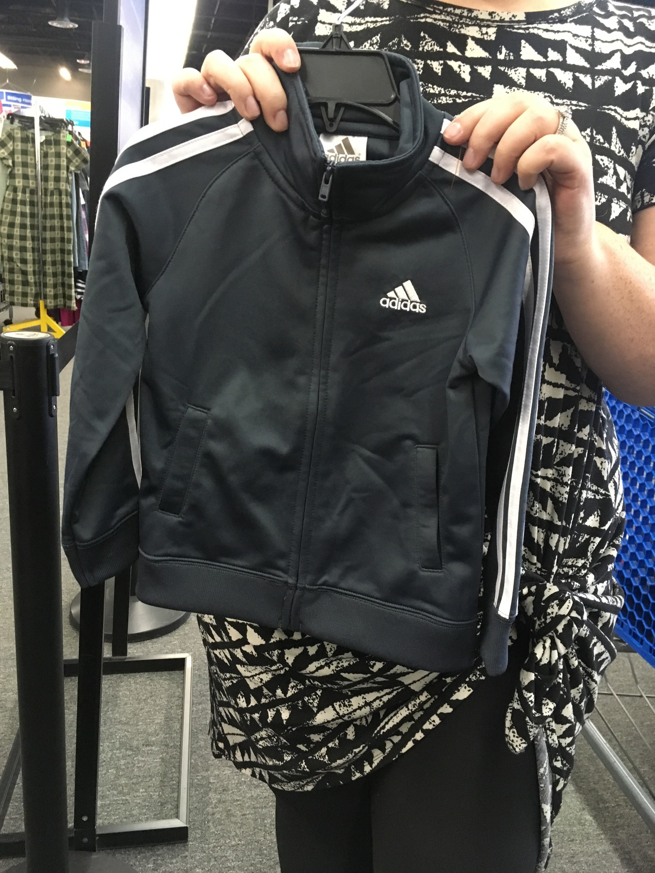 Adidas youth jacket found at Sully Station Goodwill