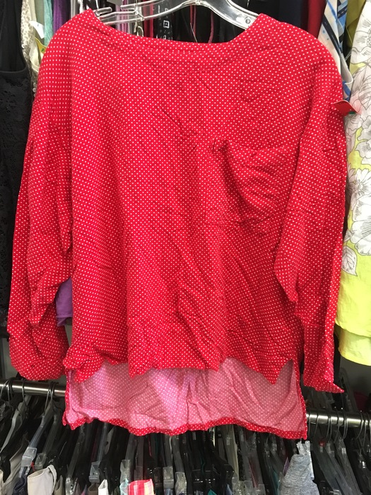 Vintage red polka dot blouse by The Gap found at Goodwill in Milford, Delaware