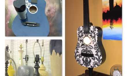 Play a New Song: Guitar Upcycled into Stylish Lamp