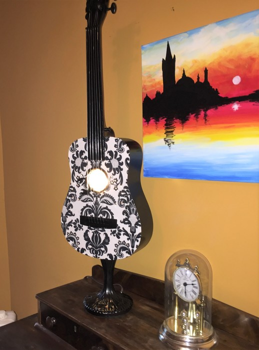 Tim's completed guitar lamp