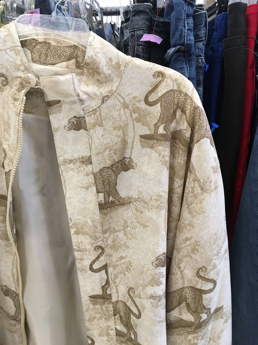 graphic leopard jacket found at Milford, DE Goodwill
