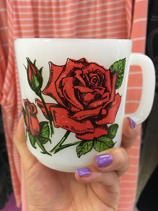 Rose mug found at Milford, DE Goodwill store