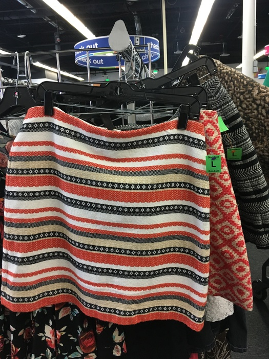 assorted skirts found at the Sully Station Goodwill retail store