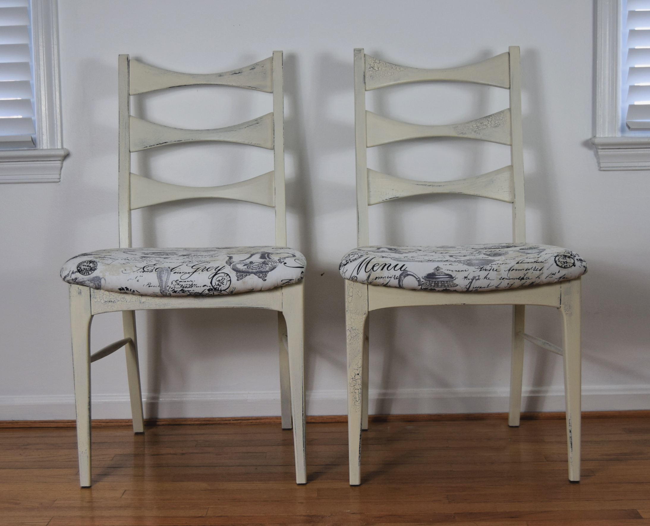upcycled vintage bistro chairs
