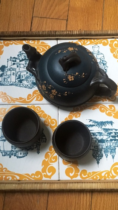 Antique tea set found at Goodwill