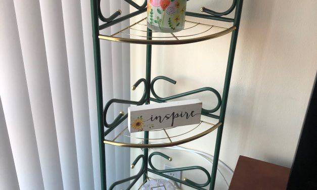 Spring Decor: $6 Retro Corner Shelf