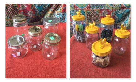 DIY Upcycled Jar Containers
