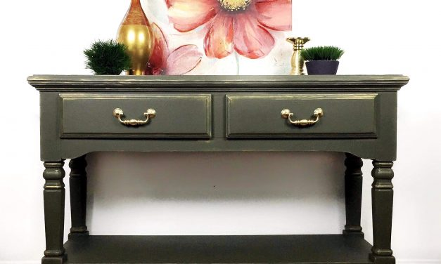 A Change of Plans for a Vintage Goodwill Sideboard