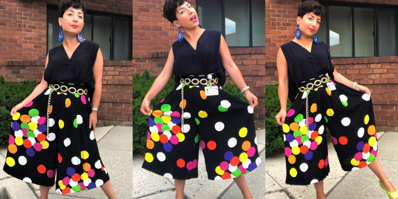 What I Wore: Polka-Dotted Flow