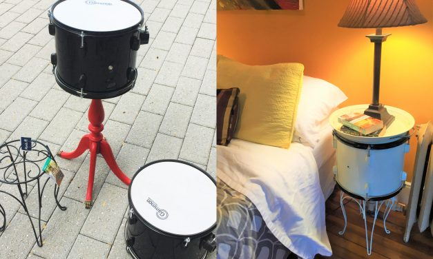 Can't Beat This Idea: Transform Drums Into Side Tables!