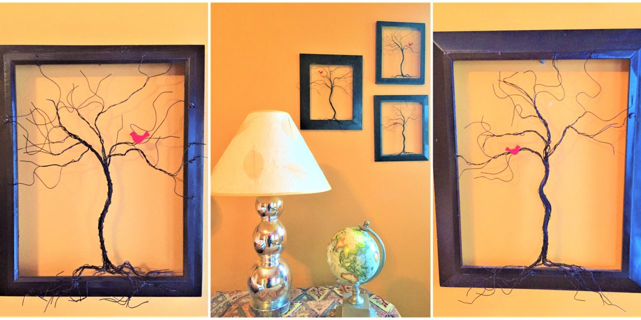 Get Wired: Pictures Frames Make Festive Trees DIY
