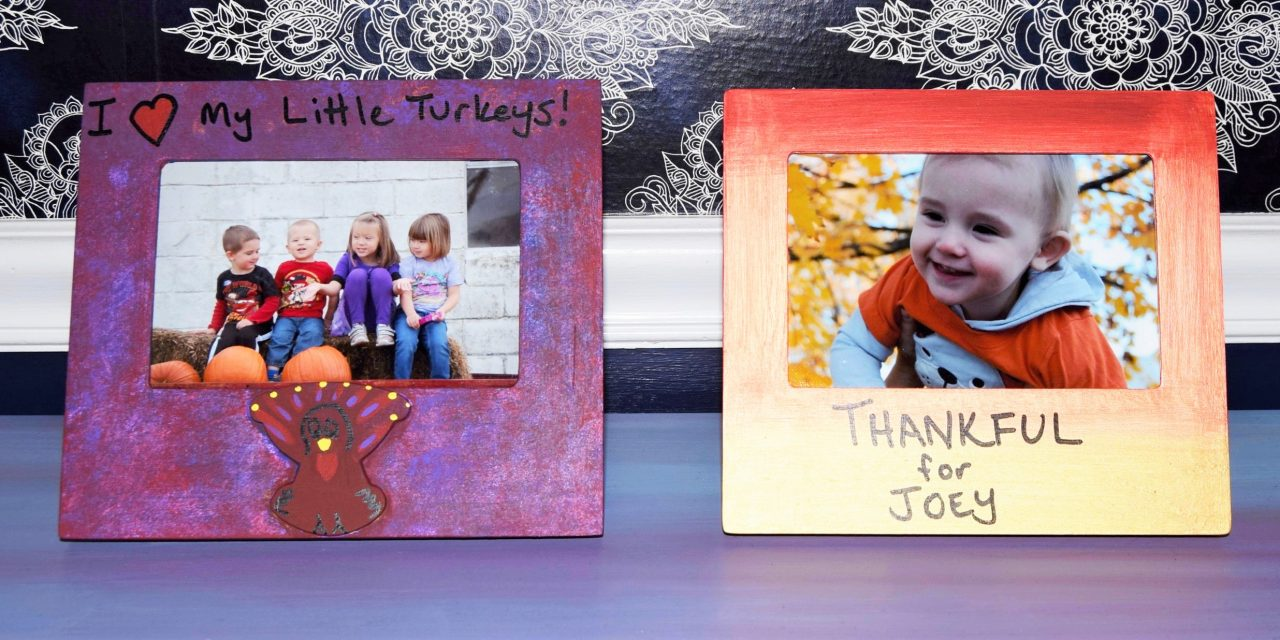DIY Thanksgiving Memory Frames