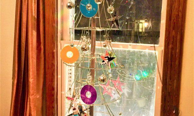 DIY Lamp Shade Frame Christmas Tree