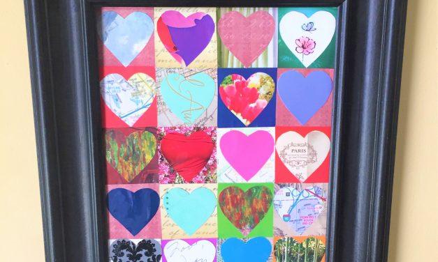 Valentine's Day Gift Idea: DIY Heart Collages, 3 Ways